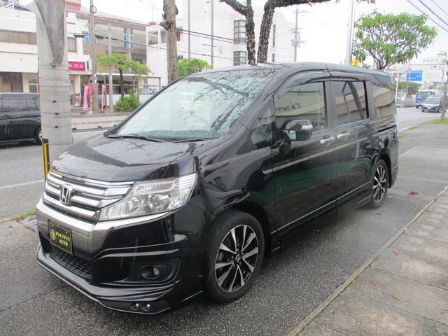 沖縄の中古車 ホンダ ステップワゴンスパーダ 車両価格 159万円 リ済込 2013(平成25)年 7.4万km ブラック