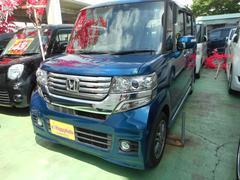 沖縄の中古車 ホンダ N BOX+カスタム 車両価格 75万円 リ済込 平成25年 10.4万K ブルーM