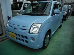 沖縄の中古車 日産 ピノ 車両価格 19万円 リ済込 平成21年 10.5万K ライトブルーM