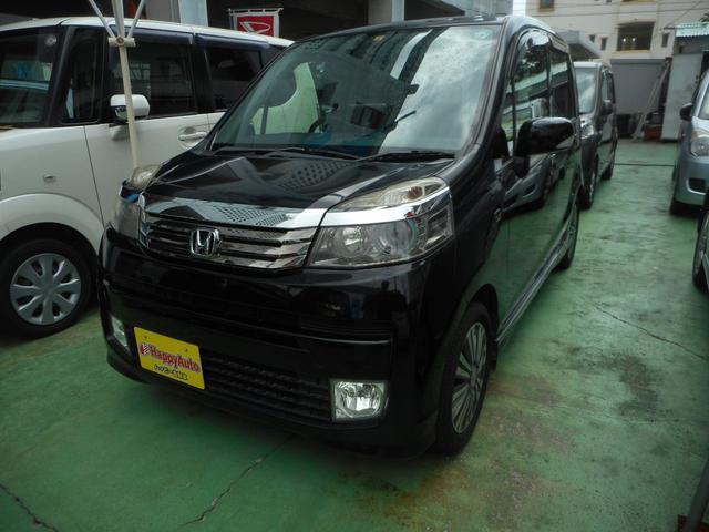 沖縄の中古車 ホンダ ライフ 車両価格 45万円 リ済込 2012(平成24)年 9.6万km ブラックM