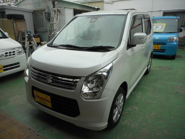 沖縄の中古車 スズキ ワゴンR 車両価格 39万円 リ済込 2013(平成25)年 13.2万km パールホワイト