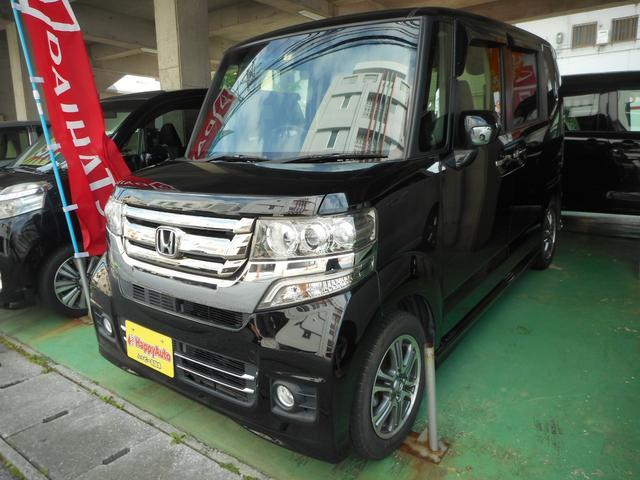 沖縄の中古車 ホンダ N-BOXカスタム 車両価格 85万円 リ済込 2016(平成28)年 8.1万km ブラックM