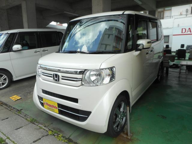 沖縄の中古車 ホンダ N-BOX 車両価格 74万円 リ済込 2017(平成29)年 11.5万km パールホワイト