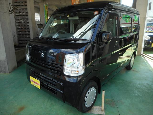 沖縄の中古車 スズキ エブリイ 車両価格 139万円 リ済込 2021(令和3)年 4km ブラックM