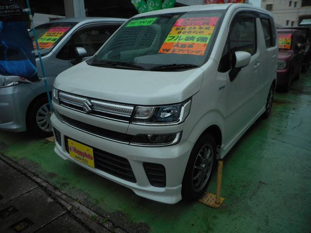 沖縄の中古車 スズキ ワゴンR 車両価格 85万円 リ済込 2017(平成29)年 12.8万km パールホワイト