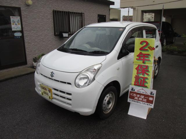 沖縄の中古車 スズキ アルト 車両価格 21万円 リ済込 平成23年 6.1万km ホワイト
