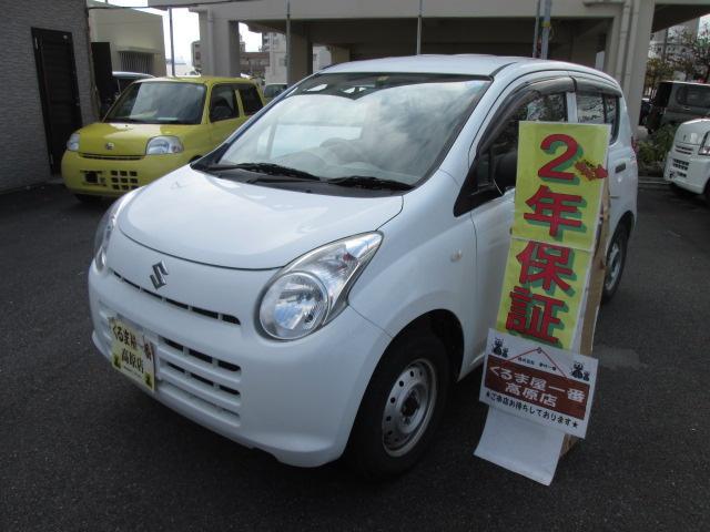 沖縄の中古車 スズキ アルト 車両価格 20万円 リ済込 2012(平成24)年 6.5万km ホワイト