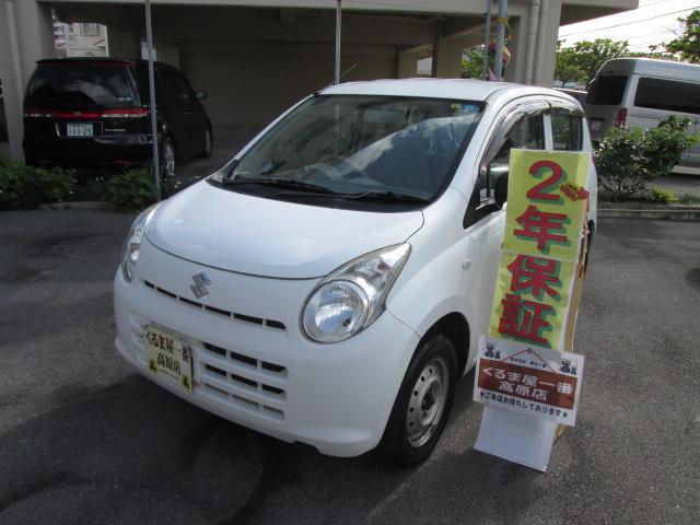 沖縄の中古車 スズキ アルト 車両価格 21万円 リ済込 2012(平成24)年 6.3万km ホワイト