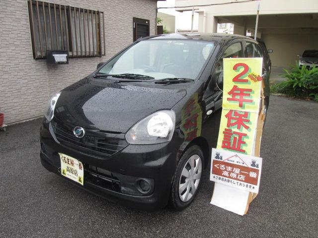 沖縄の中古車 ダイハツ ミライース 車両価格 49万円 リ済込 2014(平成26)年 2.5万km ブラック