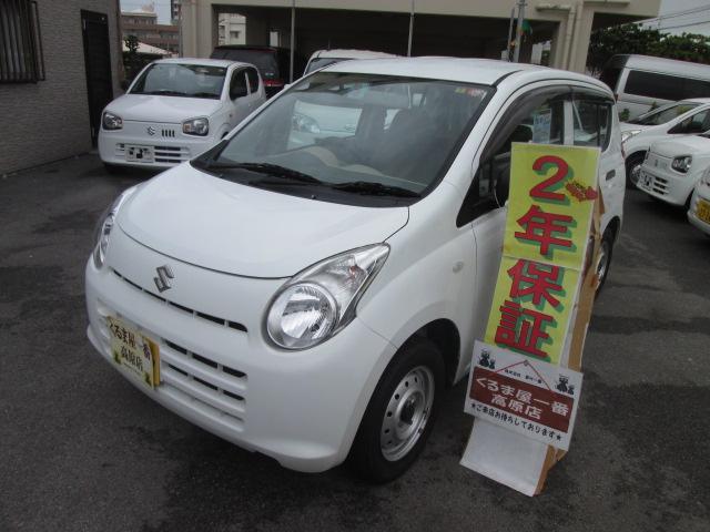 沖縄の中古車 スズキ アルト 車両価格 21万円 リ済込 2012(平成24)年 6.1万km ホワイト