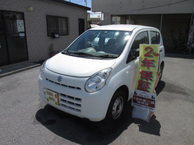 沖縄の中古車 スズキ アルト 車両価格 18万円 リ済込 2013(平成25)年 7.5万km ホワイト