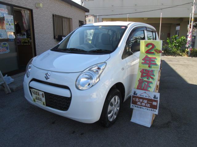 沖縄の中古車 スズキ アルト 車両価格 27万円 リ済込 2012(平成24)年 6.7万km ホワイト