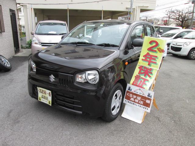 沖縄の中古車 スズキ アルト 車両価格 42万円 リ済込 2015(平成27)年 6.8万km ブラウン