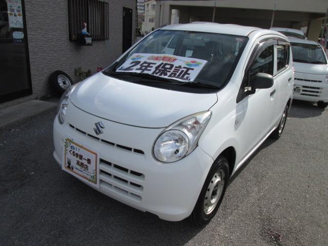 沖縄の中古車 スズキ アルト 車両価格 19万円 リ済込 2012(平成24)年 6.9万km ホワイト