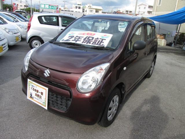 沖縄の中古車 スズキ アルト 車両価格 28万円 リ済込 2012(平成24)年 7.0万km ブラウン