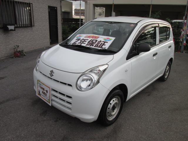 沖縄の中古車 スズキ アルト 車両価格 17万円 リ済込 2012(平成24)年 6.4万km ホワイト