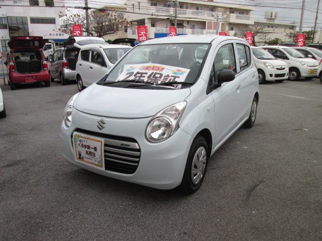 沖縄の中古車 スズキ アルトエコ 車両価格 36万円 リ済込 2014(平成26)年 6.3万km ホワイト