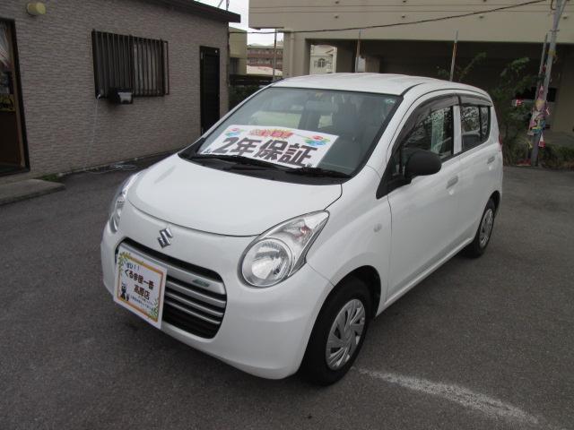 沖縄の中古車 スズキ アルトエコ 車両価格 33万円 リ済込 2014(平成26)年 5.2万km ホワイト