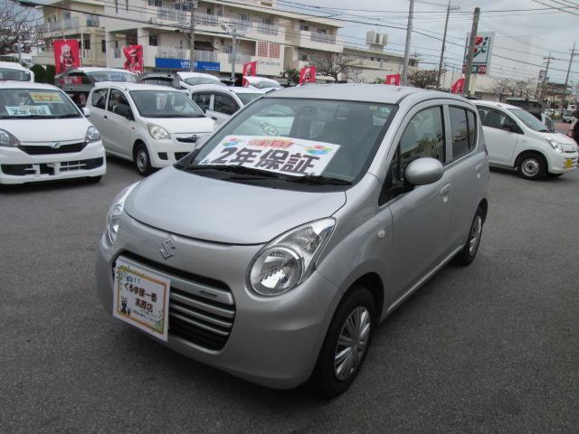 沖縄の中古車 スズキ アルトエコ 車両価格 32万円 リ済込 2014(平成26)年 7.1万km シルバー