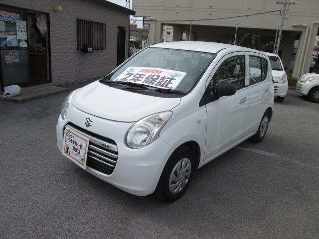 沖縄の中古車 スズキ アルトエコ 車両価格 36万円 リ済込 2013(平成25)年 4.6万km ホワイト