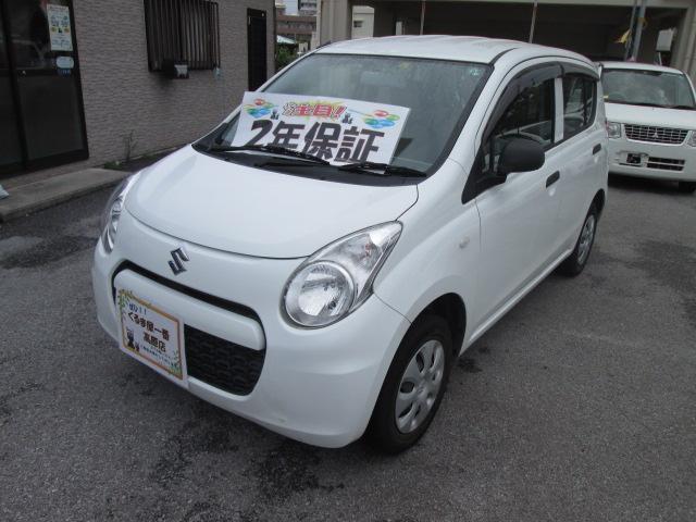 沖縄の中古車 スズキ アルト 車両価格 29万円 リ済込 2013(平成25)年 6.2万km ホワイト