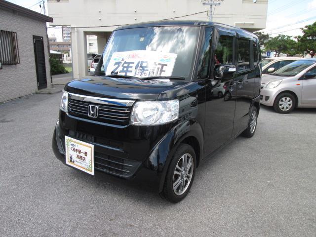 沖縄の中古車 ホンダ N-BOX 車両価格 73万円 リ済込 2014(平成26)年 8.6万km ブラック