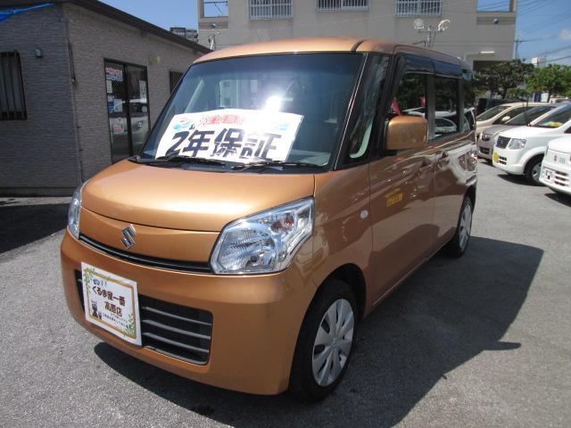 沖縄の中古車 スズキ スペーシア 車両価格 49万円 リ済込 2013(平成25)年 8.7万km オレンジ