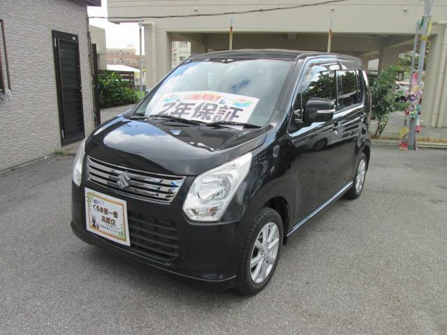 沖縄の中古車 スズキ ワゴンR 車両価格 49万円 リ済込 2013(平成25)年 8.6万km ブラック
