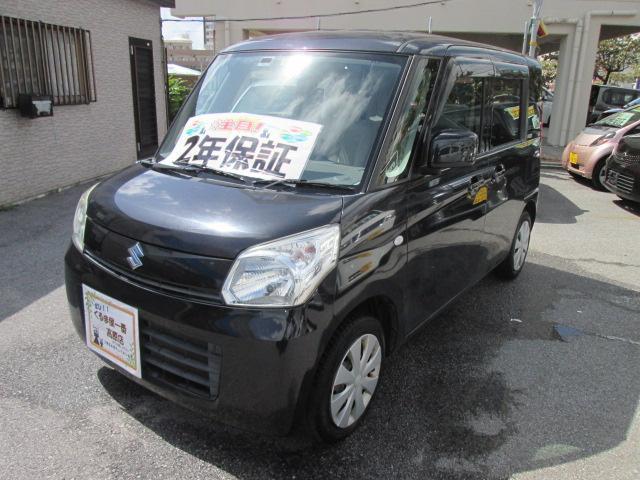 沖縄の中古車 スズキ スペーシア 車両価格 63万円 リ済込 2014(平成26)年 9.3万km ブラック