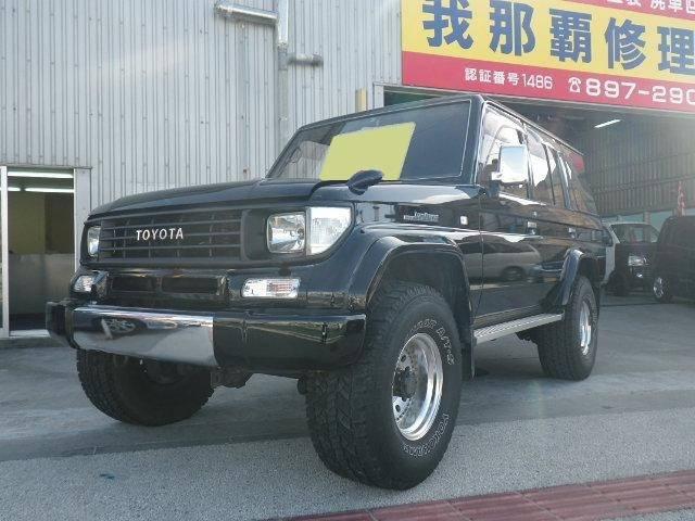 沖縄の中古車 トヨタ ランドクルーザープラド 車両価格 ASK リ済別 平成7年 21.5万km ブラック