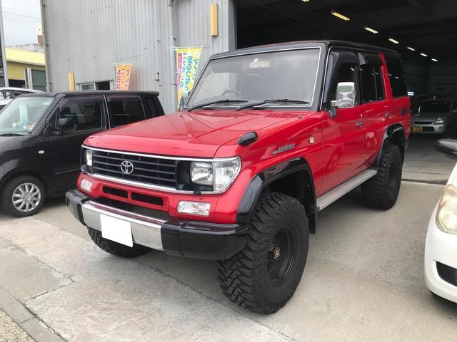 沖縄県の中古車ならランドクルーザープラド EXワイド ターボ リフトアップ 社外アルミ ドラレコ