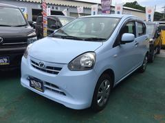 沖縄の中古車 ダイハツ ミライース 車両価格 50万円 リ済込 平成25年 7.3万K ライトブルー