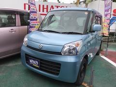 沖縄の中古車 スズキ スペーシア 車両価格 70万円 リ済込 平成25年 8.9万K ライトブルーM