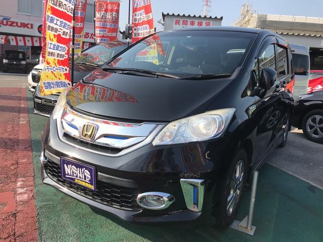 沖縄の中古車 ホンダ フリードハイブリッド 車両価格 120万円 リ済込 2012(平成24)年 5.9万km ブラック