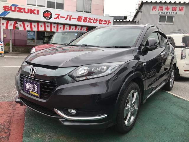 沖縄の中古車 ホンダ ヴェゼル 車両価格 186万円 リ済込 2013(平成25)年 3.3万km ブラック