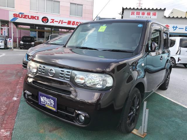 沖縄の中古車 日産 キューブ 車両価格 40万円 リ済込 2010(平成22)年 7.8万km ブラウン