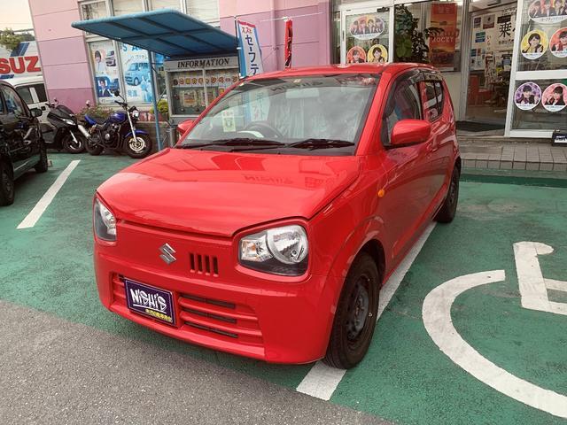 沖縄の中古車 スズキ アルト 車両価格 52万円 リ済込 2015(平成27)年 7.3万km ピュアレッド