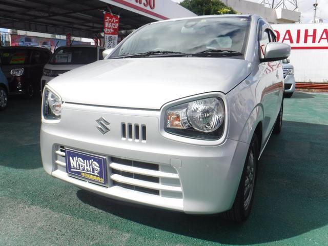 沖縄の中古車 スズキ アルト 車両価格 64万円 リ済込 2015(平成27)年 5.7万km シルバーM