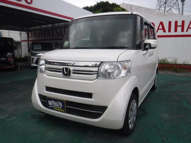 沖縄の中古車 ホンダ N-BOX 車両価格 127万円 リ済込 2017(平成29)年 3.3万km パールホワイト