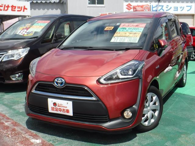 沖縄の中古車 トヨタ シエンタ 車両価格 179万円 リ済込 2016(平成28)年 5.5万km レッドM