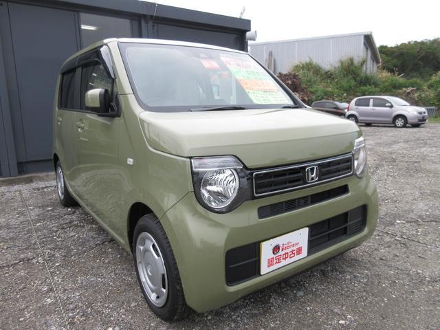 沖縄の中古車 ホンダ N-WGN 車両価格 136.4万円 リ済込 2021(令和3)年 7km ガーデングリーン