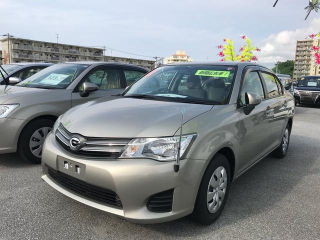 沖縄の中古車 トヨタ カローラアクシオ 車両価格 69万円 リ済別 平成24年 3.4万km シルバーM