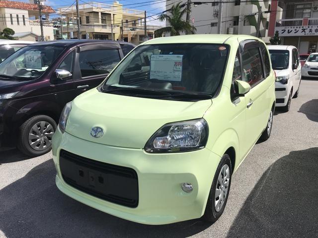 沖縄の中古車 トヨタ ポルテ 車両価格 95万円 リ済別 平成25年 6.6万km Lグリーン