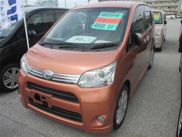 沖縄の中古車 ダイハツ ムーヴ 車両価格 69.3万円 リ済別 2011(平成23)年 6.8万km オレンジ