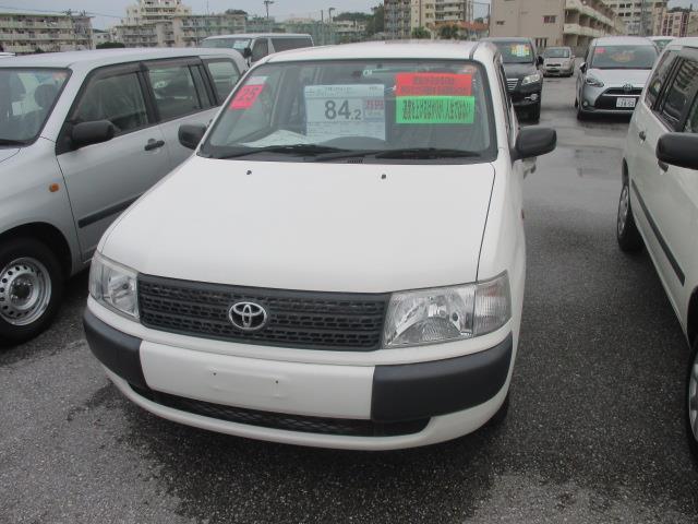 沖縄の中古車 トヨタ プロボックスバン 車両価格 84.2万円 リ済別 2013(平成25)年 6.5万km ホワイト