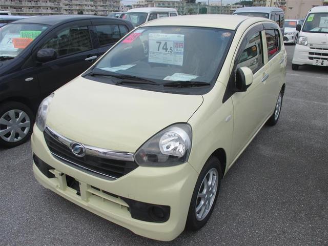 沖縄の中古車 ダイハツ ミライース 車両価格 68万円 リ済別 平成25年 5.6万km イエロー