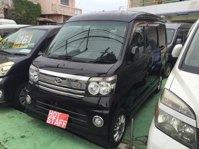 沖縄の中古車 ダイハツ アトレーワゴン 車両価格 35万円 リ済込 平成19年 10.6万km ブラックM