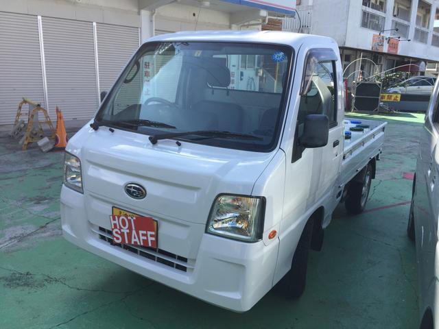 沖縄の中古車 スバル サンバートラック 車両価格 32万円 リ済込 平成22年 19.5万km ホワイトM
