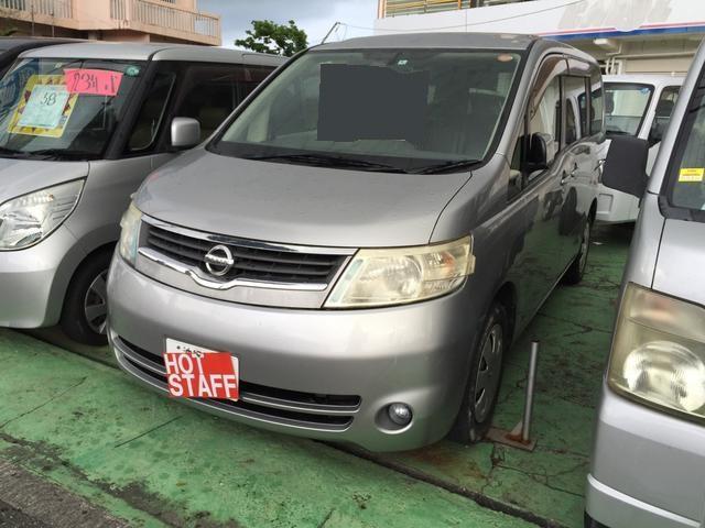 沖縄の中古車 日産 セレナ 車両価格 26万円 リ済込 平成18年 11.7万km シルバーM