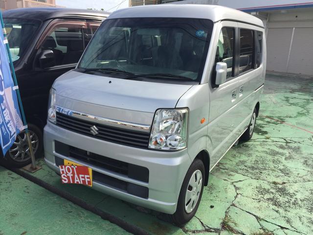 沖縄の中古車 スズキ エブリイワゴン 車両価格 46万円 リ済込 平成20年 8.6万km シルバーM